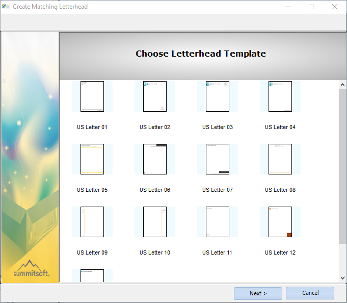 create letterheads